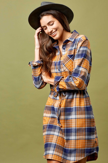 MORAINE FLANNEL DRESS